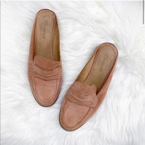 Madewell The Elinor, Suede Loafer Mule